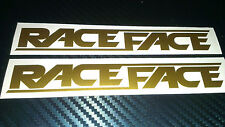 2 RACEFACE  Decals stickers Bike Fork Frame