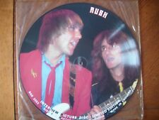 """rush interview 12"""" vinyl picture disc picture disc lp limited edition"""