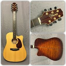 Takamine EG355SC Acoustic/Electric Dreadnaught Guitar In Natural