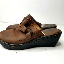 Born Womens size 9W Wedge Heel Sandal Suede