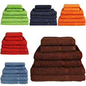 Luxury Face Hand Bath Towel Sheet Bale Set 100% Egyptian Cotton Soft 500–800 gsm