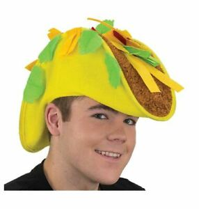 Taco Hat - Parties - Food Truck - Crazy Hat Day - Costume Accessory - Teen Adult