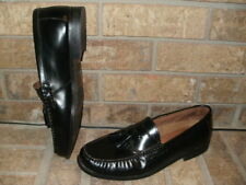 Johnston & Murphy Black Calfskin Pannell Tassel Loafer 11.5 M Excellent!