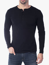 Canvas Henley Mens Long Sleeve Cotton Jersey T-Shirt Bella + Canvas 3150
