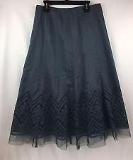 Nine West Skirt Blueberry Patio Party Size 2 Women's Cotton