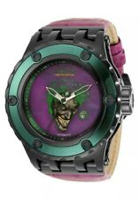 INVICTA DC COMICS JOKER AUTOMATIC MEN'S WATCH - 52MM, SS/LEATHER (34618)