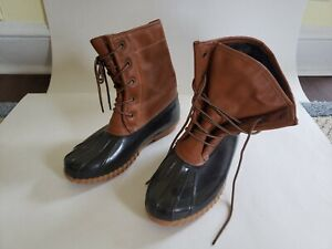 Men's The Original Duck Boot by Sporto Tan/Brown Outdoor Lace Up - Size 9