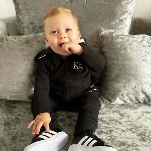 Personalised Baby/Toddler Tracksuit Hoodie Joggers Initials Name Toddler Newborn