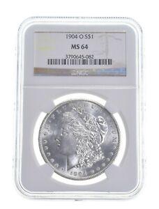 MS-64 1904-O Morgan Silver Dollar - MS64 NGC *025