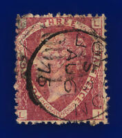 1870 SG51 1½d Rose-Red Plate 3 G6(1) LI Misperf London AU 6 75 GU Cat £75 crdw
