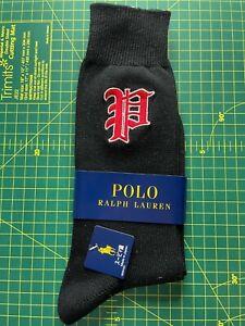 Polo Ralph Lauren P Blackletter Logo Socks UK 9-11 Genuine BNWT