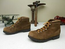 VINTAGE MENS BROWN SUEDE FABIANO ALPS MOUNTAINEERING HIKING TRAIL BOOTS 6.5 M