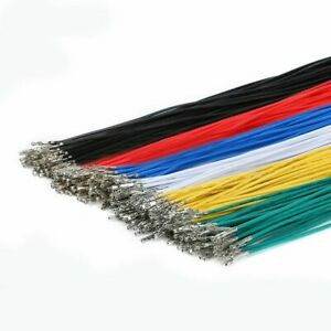 DuPont 2.54mm Connector Cable Terminal Wire 25cm 24AWG Single /Double Head Crimp
