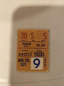 1068 Angels Vs Tigers Field Box Ticket Baseball