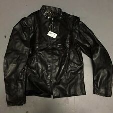 DEADSTOCK Buco J-100 44 Black Leather Jacket Cafe Racer American Safety Spain