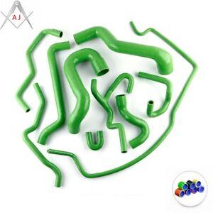 Green For SAAB 9-5 2.0T Turbo Silicone Radiator Coolant Hose Kit 2002-2007