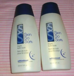 2 pcs Avon Skin so Soft  Night bath Soak Soft & relaxed 12fl.oz/ 355ml