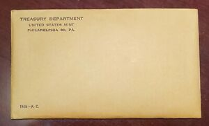 1958 US Mint Proof Set **Rare** UNOPENED UNSEARCHED Original Envelope