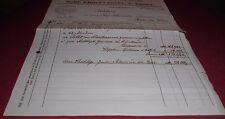inflation rechnung marmor granit pfister friedrichshafen  alt antik  1923 papier