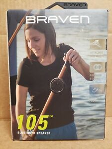 BRAVEN B105 Black Wireless Portable Bluetooth Speaker with Action Mount New