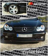 Carbon Fibre AMG Style Front Bumper Lip Spoiler for 2000-2007 Mercedes W203 C32