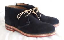 Loake 1880 navy suede leather chukka ankle boot red dainite sole UK 7 EU 41