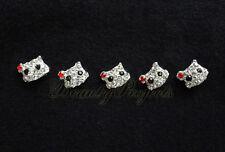 (5pcs) nail art cute 3D kitty cat face rhinestone charms acrylic nails gel A196