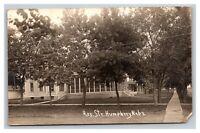 Vintage RPPC Postcard 1918 Residential Street Humphrey Nebraska POSTED