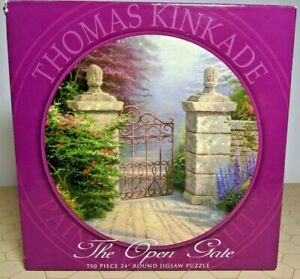 Thomas Kinkade - The Open Gate - 750 Piece Round Puzzle - NEW