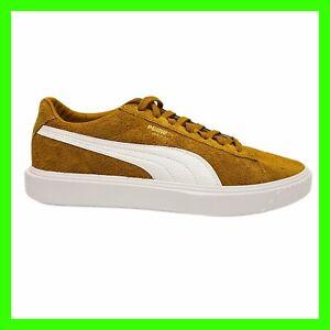 PUMA Breaker Evolution Suede Buckthorn Brown Sneakers [366625 01] Mens Size 11