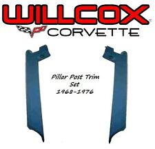 68-76 Corvette Windshield Pillar Post Trim Moulding Set, Left and Right