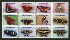 Suriname 2017 MNH Butterflies 12v Block Swallowtail Butterfly Insects Stamps