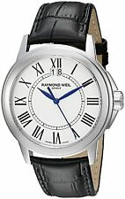 Raymond Weil Men's 5576-ST-00300 Tradition Black Leather Watch