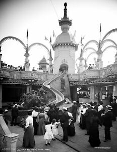 """1905 Helter Skelter Coney Island NY Vintage Old Photo 8.5"""" x 11"""" Reproduction"""