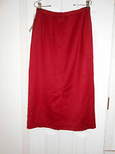 PENDLETON RED 100% WOOL LONG STRAIGHT SKIRT SZ 10 TALL NWT $104