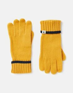 Joules Womens Snowday Knitted Gloves - Antique Gold - One Size