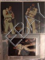 ELVIS CANDID ORIGINAL 3x5 3 PHOTO LOT BY HEIS DAYTON OHIO 10/5/74 057