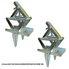(2 Pack) Easy Set Mole Eliminator Traps Made in U.S.A. by Wire-Tek Free Shipping