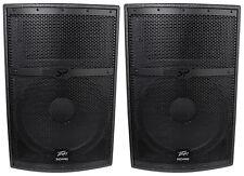 """(2) Peavey SP 2 SP2 4000 Watt 15"""" Black Widow Passive 2-Way PA Speakers, Flyable"""