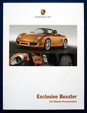 PROSPEKT BROCHURE PORSCHE EXCLUSIVE BOXSTER (USA, 2008)