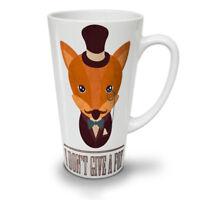 I don't give a fox NEW White Tea Coffee Latte Mug 12 17 oz | Wellcoda