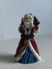 Midwest of Cannon Falls Porcelain Santa Claus Hinged Trinket Box