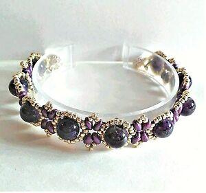 Handmade Genuine Amethyst Magnetic Bracelet
