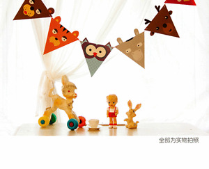 Xmas Jungle Animals Paper Garland Bunting Banner Celebration Party Decoration