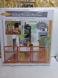 Sliding Wood Pet Gate