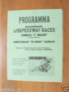 1974 INT. IJSSPEEDWAY RACES ZONDAG 17-3-1974 ALKMAAR PROGRAMME