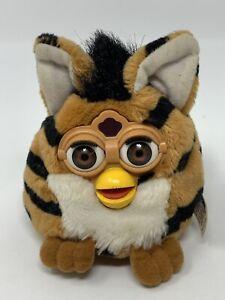 "Furby Buddies Bean Bag Stuffed Plush Toy Brown Black Striped Tiger 1999 4"" READ"