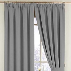 """WOVEN BLACKOUT  CURTAINS IN 3"""" PENCIL PLEAT  , IN 13 FAB COLOURS"""