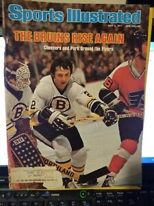 5/9/77 SPORTS ILLUSTRATED BRAD PARK-GERRY CHEEVERS BOSTON BRUINS GROBEE1957