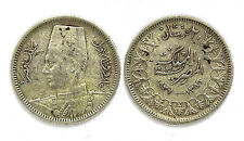 2 Piastres 1937 (1356). Egypte. Fuad I°. Argent/ Silver